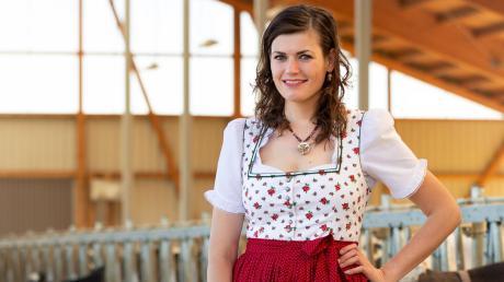 Verena Weber aus Pähl (Landkreis Weilheim-Schongau) möchte gerne die neue Milchkönigin der Bayerischen Milchwirtschaft werden. Dazu hofft sie, fürs Finale noch möglichst viele Online-Stimmen zu bekommen.