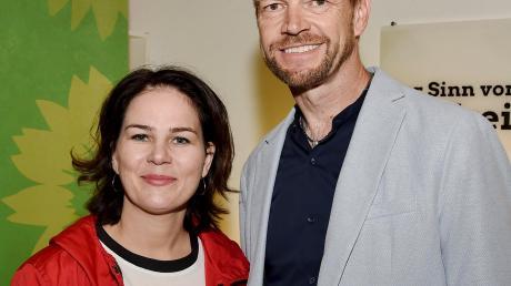 Kreissprecher Martin Erdmann und die Grünen-Bundesvorsitzende Annalena Baerbock.