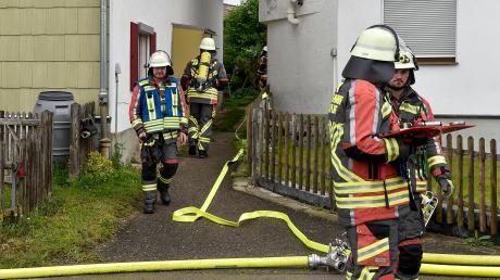 In einem Apfeldorfer Wohnhaus gab es am Mittwoch einen Brand. Ein Hund starb, eine Bewohnerin wurde verletzt.