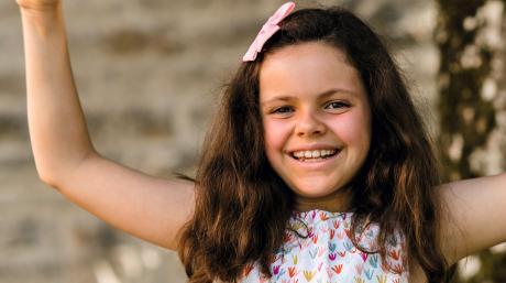 Benita Bernhart aus Greifenberg hat zwei Geburtstage. Das neunjährige Mädchen erhielt vor neun Jahren eine lebensrettende Stammzellspende.