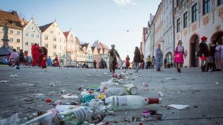 Kräftig gefeiert wurde am Lumpigen Donnerstag in Landsberg auch auf dem Hauptplatz. Ein Vorfall landete jetzt vor Gericht.