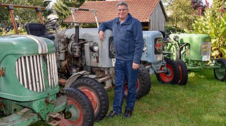 Hurlachs Bürgermeister Wilhelm Böhm tritt bei der Kommunalwahl im März 2020 nicht wieder an. Er freut sich schon darauf, sich intensiver um seine Oldtimer-Bulldogs kümmern zu können.