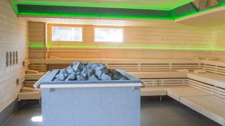 DasKauferinger Lechtalbad (hier die neue Sauna) wird teilweise mit Wärme aus einer Biogasanlage in Weil versorgt. Allerdings hakt es bei der Versorgung noch.
