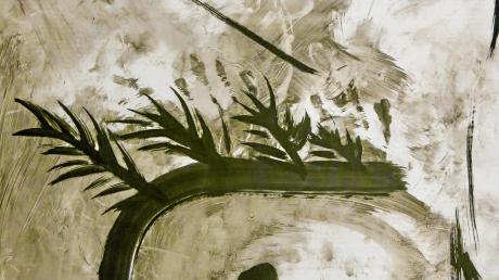 Ohne Titel und mit Öl auf Plakatpapier gemalt. Höhlenbilder von Axel Wagner.