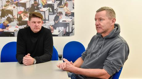 Gesprächstermin in der Redaktion: Patrick Freutsmiedl (links, Vorstandsmitglied TSV Landsberg) und Roland Neumeyer (Leiter der Handballabteilung)