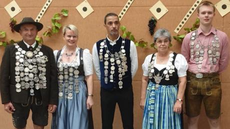 Die Könige des Gaus Ammersee (von links): Anton Wernseher, Barbara Jörg, Steffen Schmölz, Elisabeth Vielhauer und Tobias Huber.