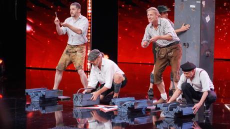 """Die """"Alpin Drums"""" bei ihrem Auftritt in der Show """"Das Supertalent"""""""