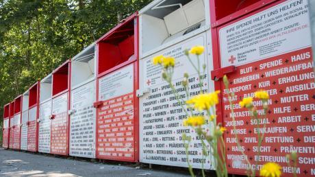 Die Sammelcontainer am Wiesenring in Landsberg hat das Rote Kreuz bereits im Herbst abgebaut.