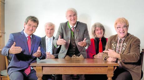 Ein Mann, viele Rollen: Kabarettist Wolfgang Krebs verkörpert unter anderem Markus Söder, Horst Seehofer, Edmund Stoiber, Angela Merkel und andere.