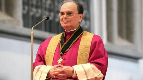 Diözesan-Administrator Prälat Bertram Meier am Mittwoch bei der Verkündung des Namens des neuen Bischofs im Augsburger Dom.