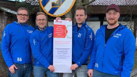 Die Organisatoren: (von links) Matthias Habeck, Martin Boos, Johannes Grunow und Xaver Boos.