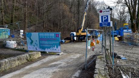 Der Lechpark Pössinger Au bleibt länger gesperrt - wahrscheinlich bis Juni.