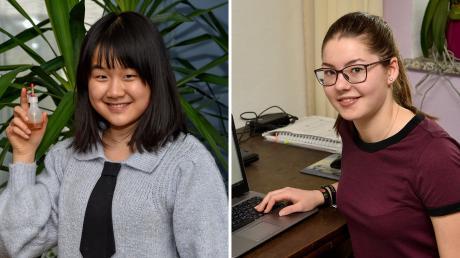 """Yuhan Ye aus Landsberg und Sophia Veneris aus Walleshausen beteiligen sich an """"Jugend forscht""""."""