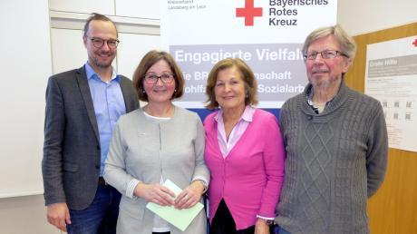 Die Initiatoren des Projekts: (von links) Andreas Lehner, Marianne Asam (beide BRK), Kristina Giersberg und Walter Schuler (Seniortrainer).