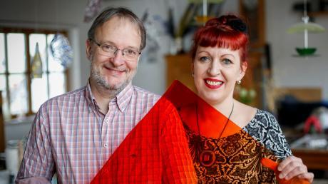 Katrin Engel-Meyer und Bernd Engel haben die Glaserei Sattler vor 20 Jahren in Scheuring übernommen,