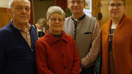 Der neu gewählte Vorstand des Kreisverbands für Gartenbau und Landespflege Landsberg (von links): Manfred Haltmayr, Elisabeth Haltmayr, Christian Hanglberger mit Geschäftsführerin Susann-Kathrin Huttenloher.
