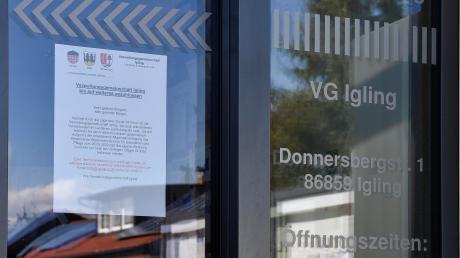 Aufgrund der Coronakrise gibt es personelle Engpässe in der Verwaltungsgemeinschaft Igling. Das hat Auswirkungen auf den täglichen Betrieb.