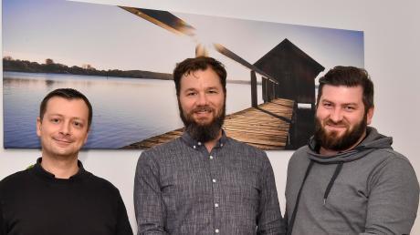 Daniel Rank, Peter Schaeffer und Thomas Hoiboom (von links) haben das Portal ammersee-shop.de gegründet.
