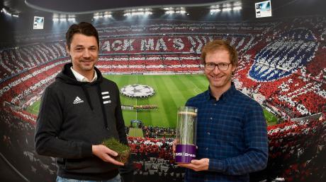 Die Firma Eurosports Turf mit Hauptsitz in Igling liefert Rollrasen an Profifußballklubs. Mark Trübenbacher (Managing Director) und Dominic Fenkl (Leiter Vertrieb und Marketing, rechts) haben rund 60 Mitarbeiter.