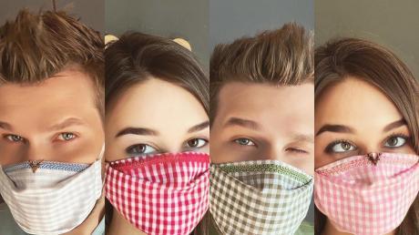 Der Finninger Modedesigner Tian van Tastique bietet Gesichtsmasken im bayerischen und Tiroler Stil an.
