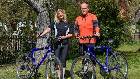 Inga und Ralph Abel aus Unterdießen haben in der Corona-Krise das Radfahren neu für sich entdeckt.
