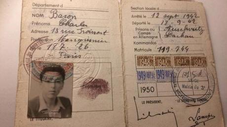 Ein 1948 auf Charles Baron ausgestellter Pass.