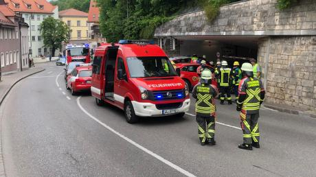 Brand in der Landsberger Schlossberggarage: Dort ging am Mittwoch in der Mittagszeit ein geparktes Auto in Flammen auf.