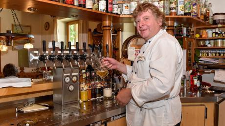 Gasthaus Blätz: Küchenchef Gottfried Blätz ist froh, dass es wieder läuft.