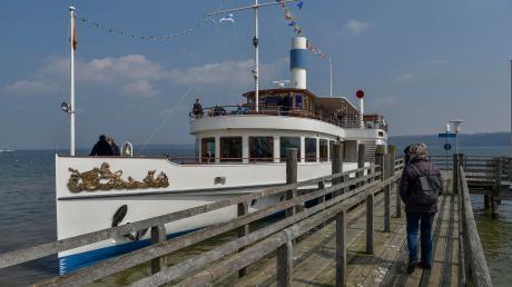 Ab dem heutigen Samstag fährt die Schifffahrt auch die Dampferstege in Dießen (Bild), Utting und Schondorf wieder an.