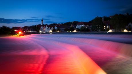 """Night of Light"" in Landsberg: Impession vom Lechwehr"