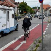 Die Einmündungen in die Katharinenstraße sind besonders gefährlich für Radfahrer.