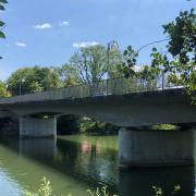 Die Lechbrücke zwischen Alt-Kaufering und Kaufering.