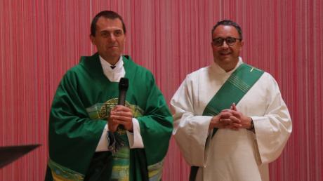Pfarreiengemeinschaft Geltendorf (von links) Pfarrer Thomas Wagner und Diakon Klaus Mittermeier.