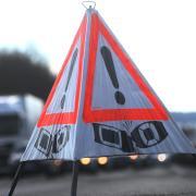 Wegen eines Unfalls auf der A8 bei Zusmarshausen staut es sich am Montagnachmittag.