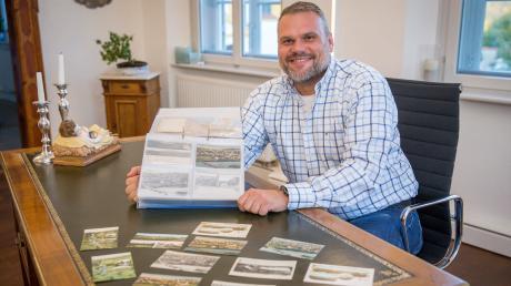 Kinsaus Bürgermeister Marco Dollinger ist im Besitz von mehr als 1000 Postkarten aus seinem Heimatdorf und der unmittelbaren Umgebung.