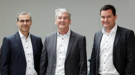 Die scheidenden Geschäftsführer der Firma Hirschvogel (von links): Dr. Thomas Brücher, Dr. Alfons Hätscher und Frank M. Anisits.
