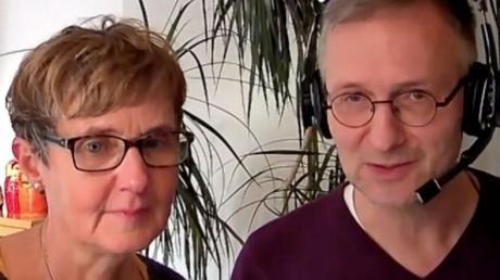 Uschi und Klaus Pfaffeneder bei ihrer Online-Lesung.