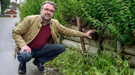 """Auf Vilgertshofens Bürgermeister Dr. Albert Thurner warteten im vergangenen Jahr einige """"Überraschungseier"""" – dazu zählte der Schmiedberg in Stadl."""