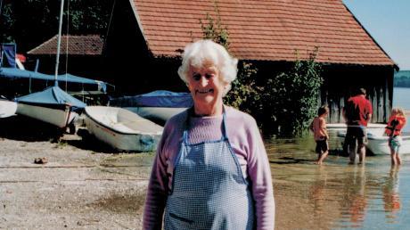 Maria Marx stammt aus einer Uttinger Bauernfamilie und heiratete 1948 in ein jahrhundertealtes Fischeranwesen ein.
