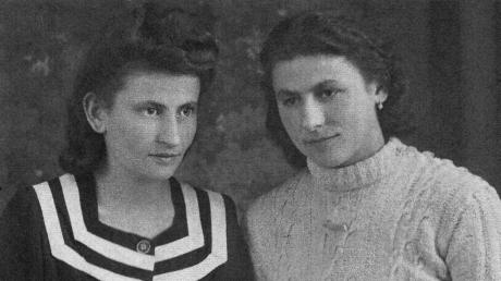 Hildegard Grötzner (verheiratete Haftner, rechts zusammen mit ihrer Schwester Maria) erzählt in einer neuen Veröffentlichung des Widnacher Archivs von der Vertreibung aus dem Sudetenland.