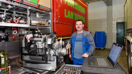 Seit 1995 ist Christian Jungbauer Gerätewart bei der Landsberger Feuerwehr. Zuletzt war der 50-Jährige sechs Jahre lang Kommandant. Jetzt tritt er aus persönlichen Gründen kürzer.