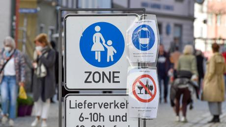 Der Landkreis Landsberg im Lockdown. Unser Foto zeigt die Fußgängerzone in Landsberg.