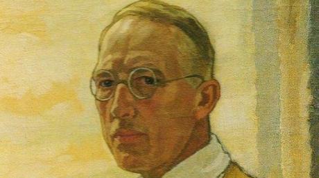 Selbstbildnis von Walter Georgi, Öl auf Leinwand, um 1900. <b>Heuer wäre er 150 Jahre alt geworden.</b>