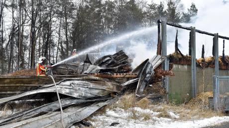 Mitte Januar brannte in St. Ottilien ein Hackschnitzellager.