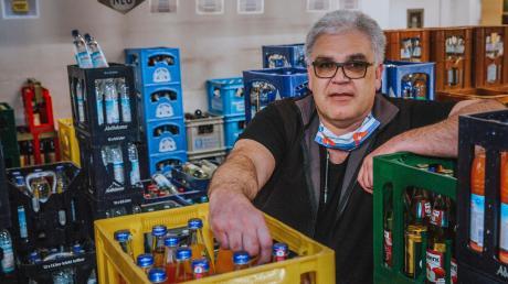 Klaus Förg hat es nicht geschafft: Er muss den Getränkehandel in Penzing wegen den Auswirkungen der Corona-Pandemie aufgeben.