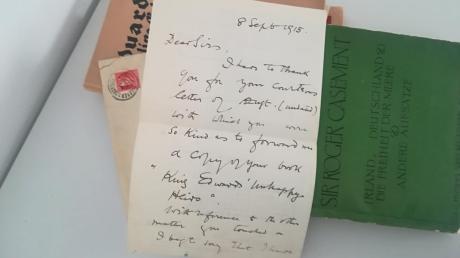 Diesen kurzen handschriftlichen Brief hat Wolfgang König in Dießen gefunden.
