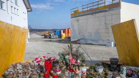 Auf dieser Baustelle in Denklingen kamen Mitte Oktober vier Mitarbeiter einer Baufirma ums Leben.