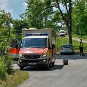 An der Lechstaustufe 15 in Landsberg wurde nach einem vermissten 64-jährigen Manngesucht.