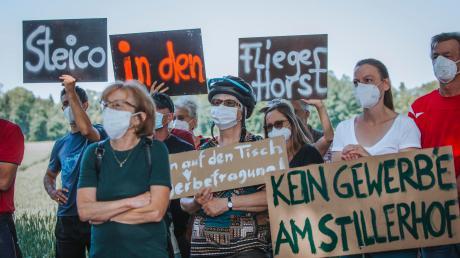 Grüne protestieren gegen Steico-Ansiedelung am Staatsgut Stillern