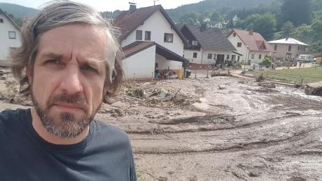 Alexander Knie ist derzeit im Landkreis Ahrweiler und hilft bei den Aufräumarbeiten.